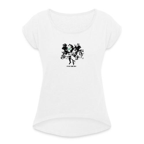 june 2014 - Frauen T-Shirt mit gerollten Ärmeln