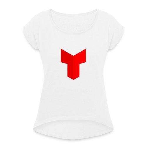 redcross-png - Vrouwen T-shirt met opgerolde mouwen