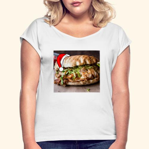 doner kebab - Vrouwen T-shirt met opgerolde mouwen