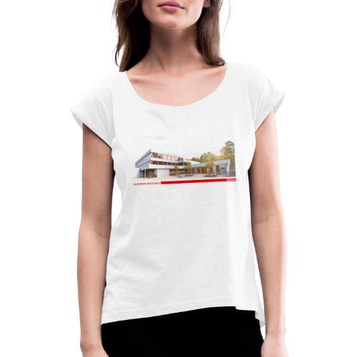 HRSU Wear Building - Frauen T-Shirt mit gerollten Ärmeln