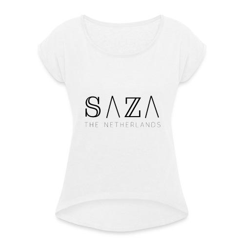 sazakleding - Vrouwen T-shirt met opgerolde mouwen