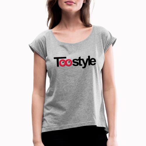 toostyle - Maglietta da donna con risvolti
