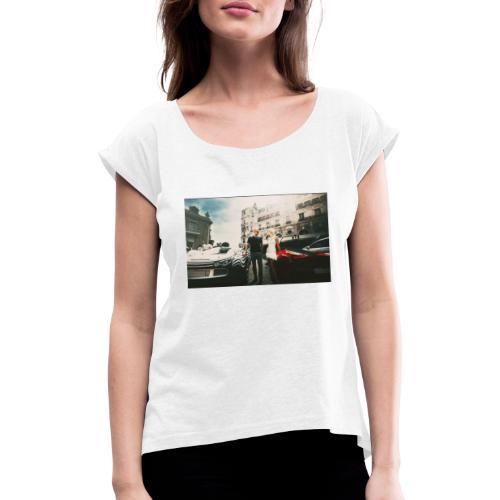 Rich$Sexy2 - Frauen T-Shirt mit gerollten Ärmeln