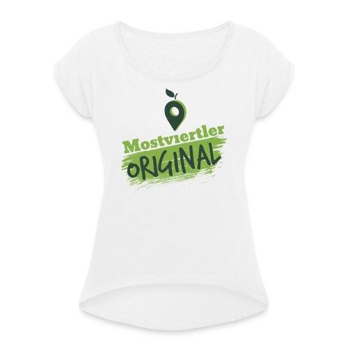 Mostviertler Original - Frauen T-Shirt mit gerollten Ärmeln