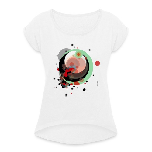CIRCLES 002 - Camiseta con manga enrollada mujer