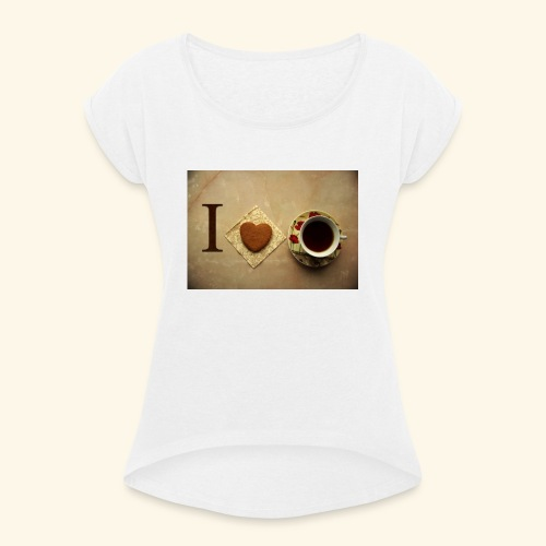 Tea - Camiseta con manga enrollada mujer