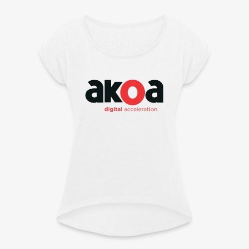 Super agence - T-shirt à manches retroussées Femme