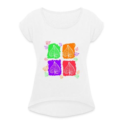 Foglie - Maglietta da donna con risvolti