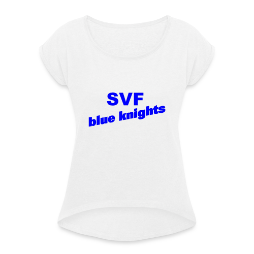 SVF-blue-knights blau - Frauen T-Shirt mit gerollten Ärmeln