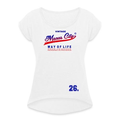 Manas City - T-shirt à manches retroussées Femme