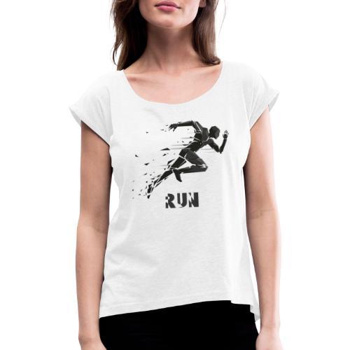 RUN - Camiseta con manga enrollada mujer