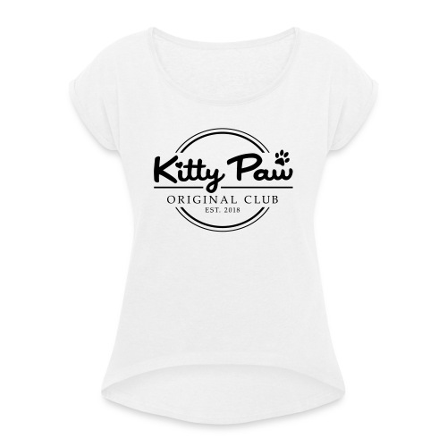 Kitty Paw Club - Dame T-shirt med rulleærmer