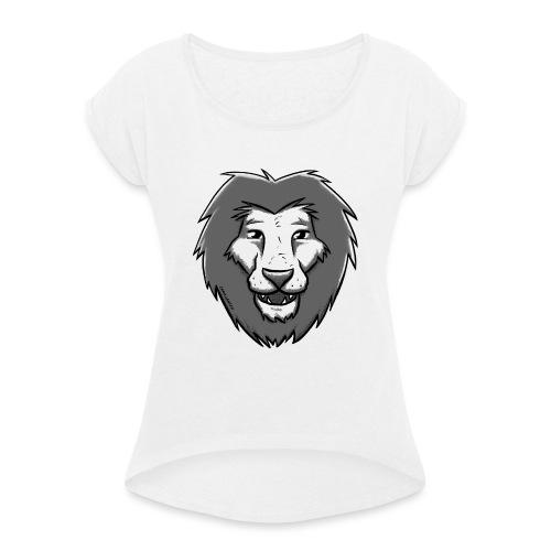Löwensmile - Frauen T-Shirt mit gerollten Ärmeln