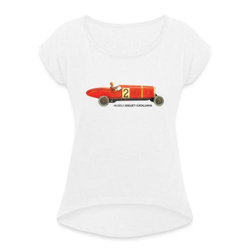 Juguete coche lata antiguo - Camiseta con manga enrollada mujer