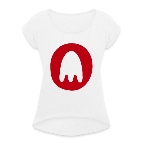 PT Ghost Logo - Women's T-Shirt with rolled up sleeves