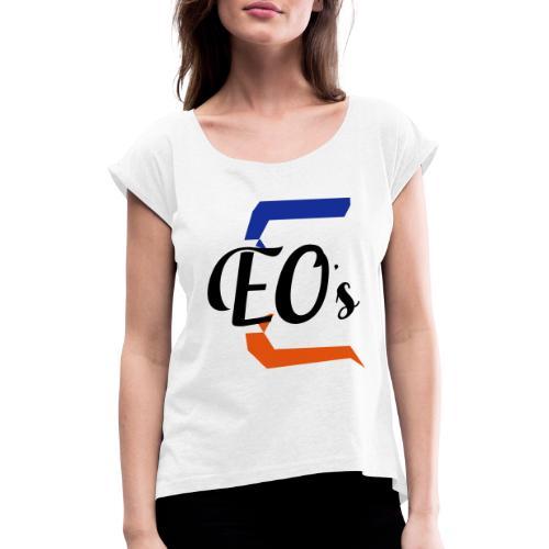 Logo peter - T-shirt à manches retroussées Femme