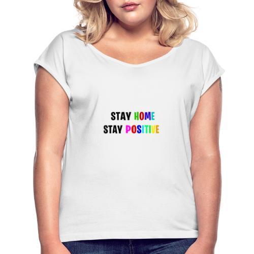 PSSSS - Frauen T-Shirt mit gerollten Ärmeln