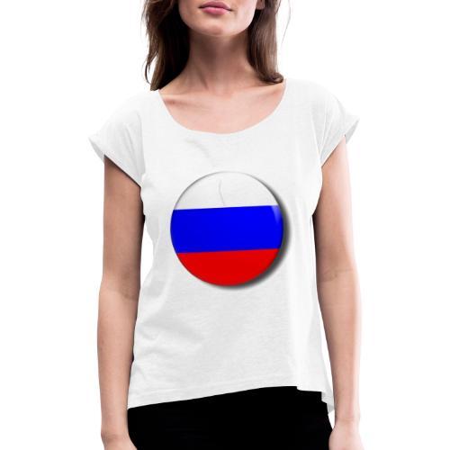 Kanal Bild - Frauen T-Shirt mit gerollten Ärmeln