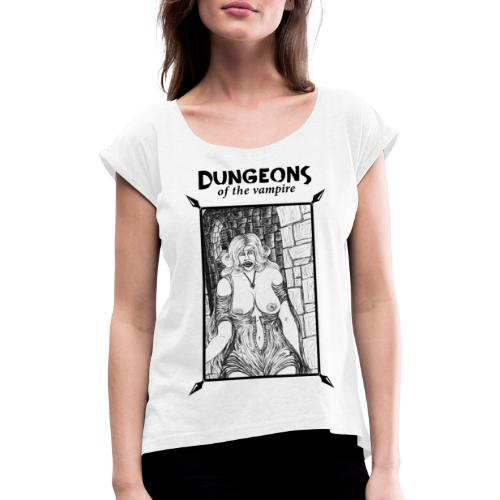 catacombs vampire black version - Women's T-Shirt with rolled up sleeves