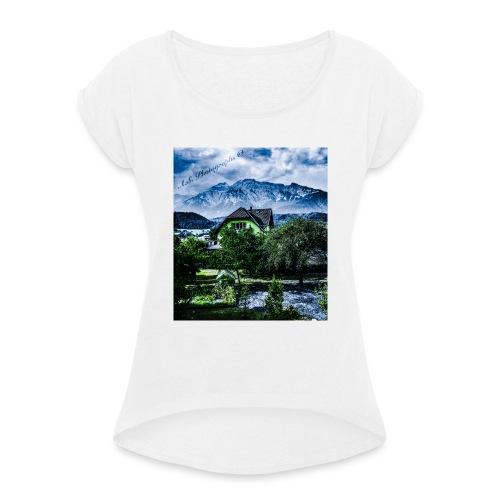 #SchönesTirol - Frauen T-Shirt mit gerollten Ärmeln