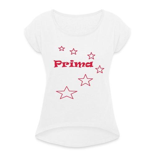 Prima - Frauen T-Shirt mit gerollten Ärmeln