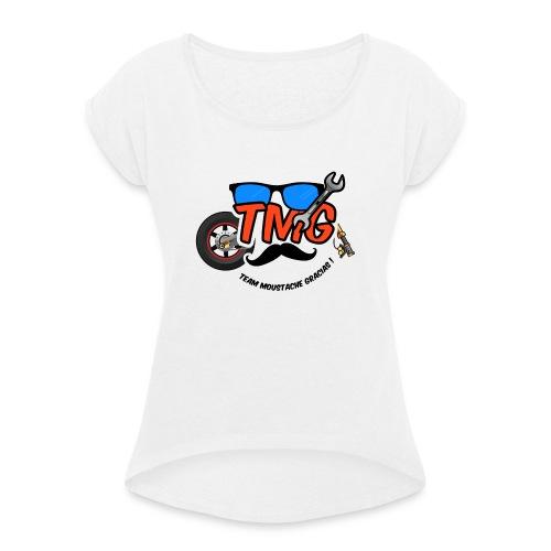 Logo TMG lunette - T-shirt à manches retroussées Femme