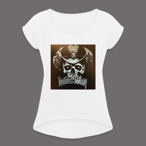 Toothless Johnny - T-skjorte med rulleermer for kvinner