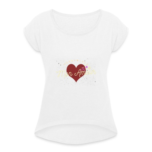 Corbynista Mon Amour - Women's T-Shirt with rolled up sleeves