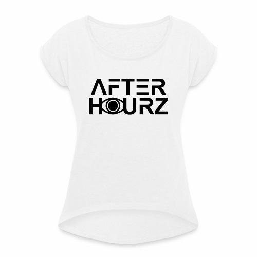 Afterhour Rave Partys Electronic Music Clubbing DJ - Frauen T-Shirt mit gerollten Ärmeln