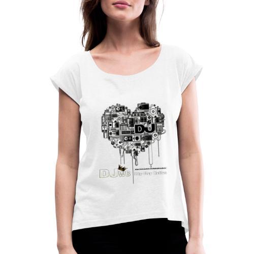 Design Music DJ WB Hip Hop Nation - T-shirt à manches retroussées Femme