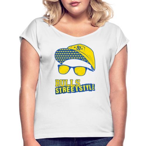 Bulls Streetstyle Yellow - Frauen T-Shirt mit gerollten Ärmeln