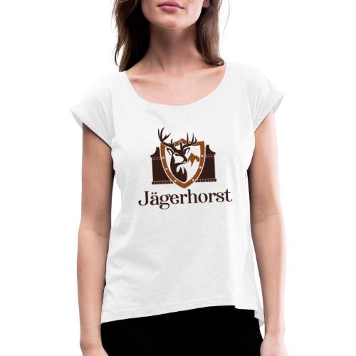 Jägerhorst Logo - Frauen T-Shirt mit gerollten Ärmeln