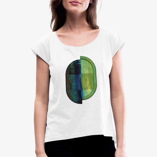 Twoja połówka - Koszulka damska z lekko podwiniętymi rękawami