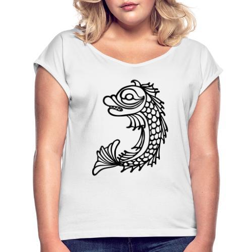 grenoble dauphin - T-shirt à manches retroussées Femme