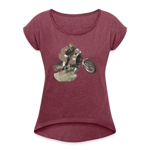marlboro nx250 less saturation - Vrouwen T-shirt met opgerolde mouwen