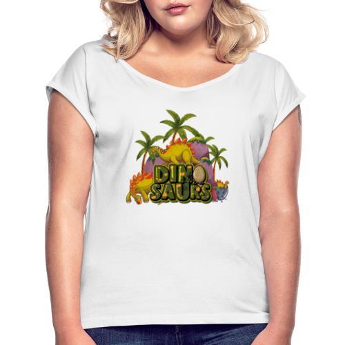 My Dinosaurs - Camiseta con manga enrollada mujer
