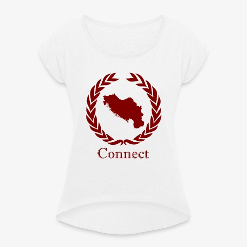 CONNECT COLLECTION LMTD. EDITION RED - Women's T-Shirt with rolled up sleeves