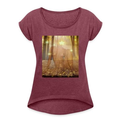 Forestsensation - Frauen T-Shirt mit gerollten Ärmeln