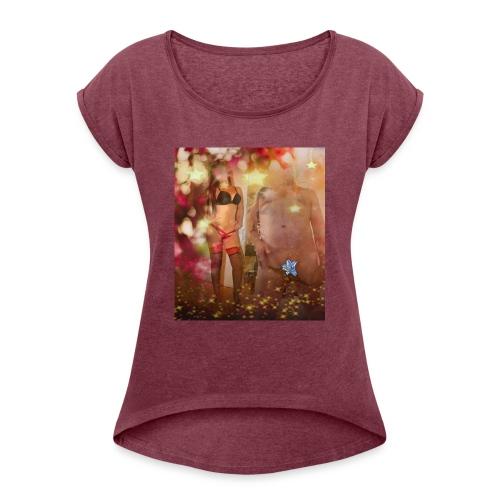herbst Sinfonie - Frauen T-Shirt mit gerollten Ärmeln