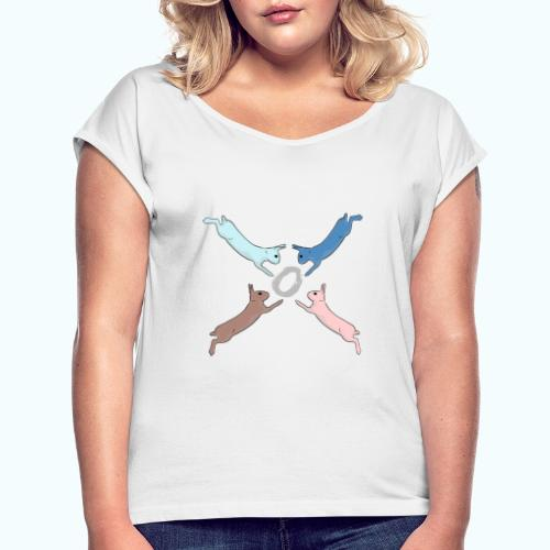 Easter - Women's T-Shirt with rolled up sleeves