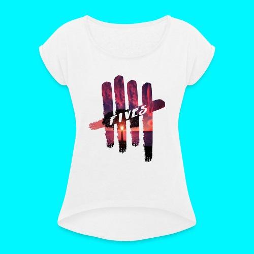 fives tree - T-shirt à manches retroussées Femme