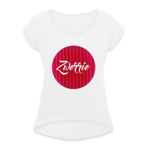 zwerrie-logo-png - Vrouwen T-shirt met opgerolde mouwen