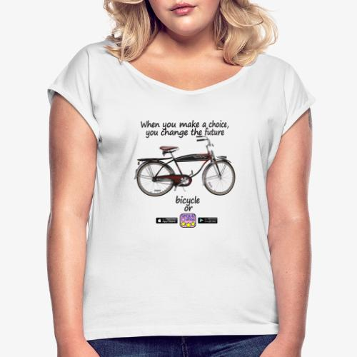 Bicycle or... - Maglietta da donna con risvolti