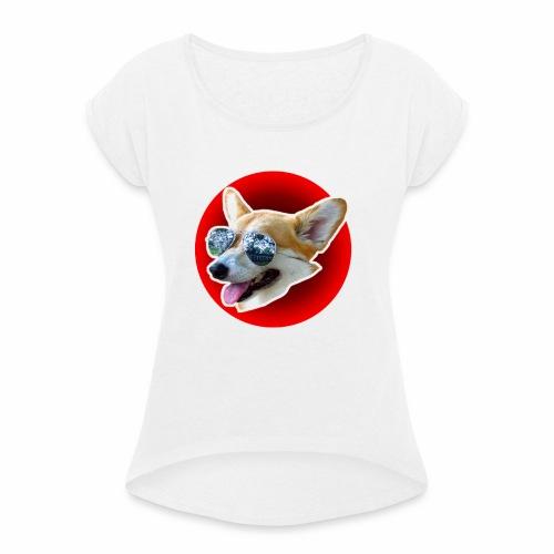 Cool Corgi - T-shirt à manches retroussées Femme