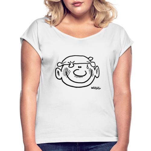 Sommarsnubbe - T-shirt med upprullade ärmar dam