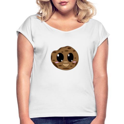 Sweet Cookie - Frauen T-Shirt mit gerollten Ärmeln