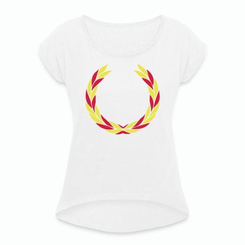 EGBAB - T-shirt med upprullade ärmar dam