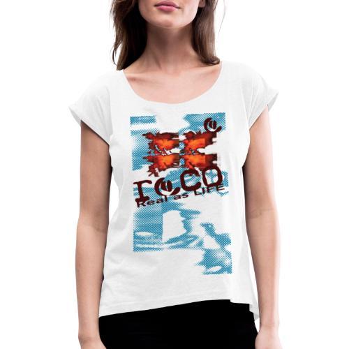 birth SQUARE shirt2 - T-shirt à manches retroussées Femme