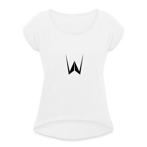 MusicLukasMerch - T-shirt med upprullade ärmar dam
