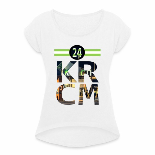 KRCM - Vrouwen T-shirt met opgerolde mouwen